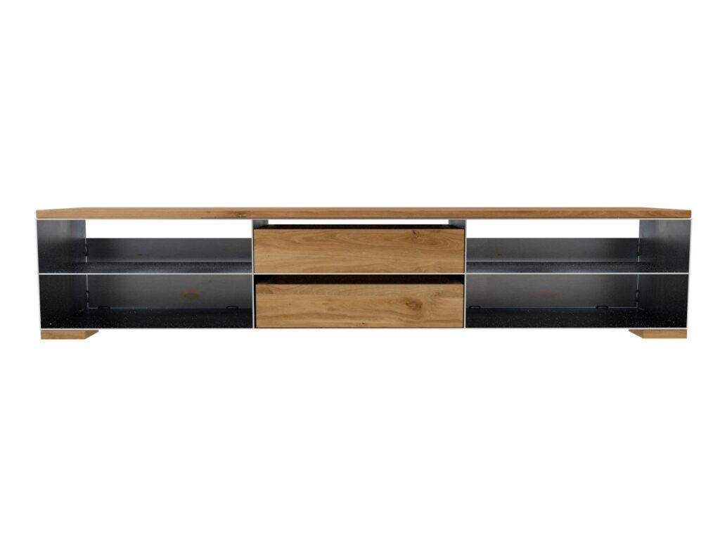 Bezaubernd Massivholz Sideboard Foto Von Metall Modern Und Minimalistisch In Zunderstahloptik Und
