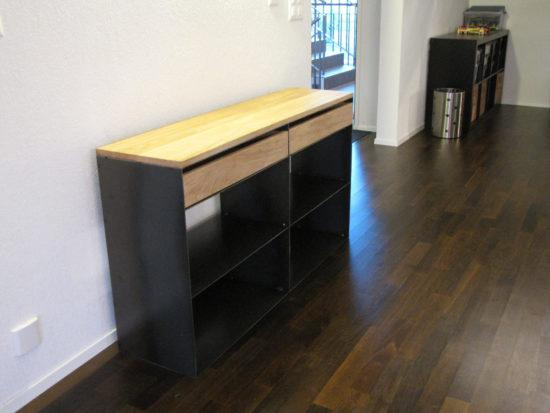 kaminholzregal sideboard. Black Bedroom Furniture Sets. Home Design Ideas