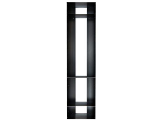 Großes Kaminholzregal aus Metall in Rohstahloptik für Innen