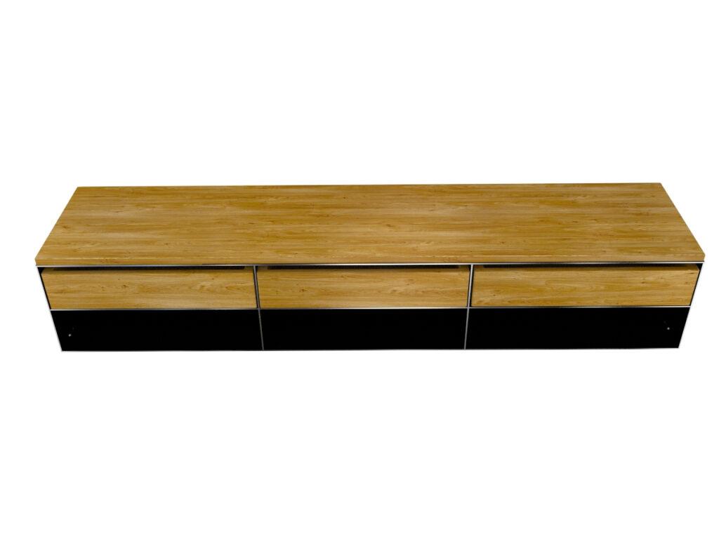 Stahlmöbel Sideboard modern und minimalistisch in Rohstahloptik und Massivholz