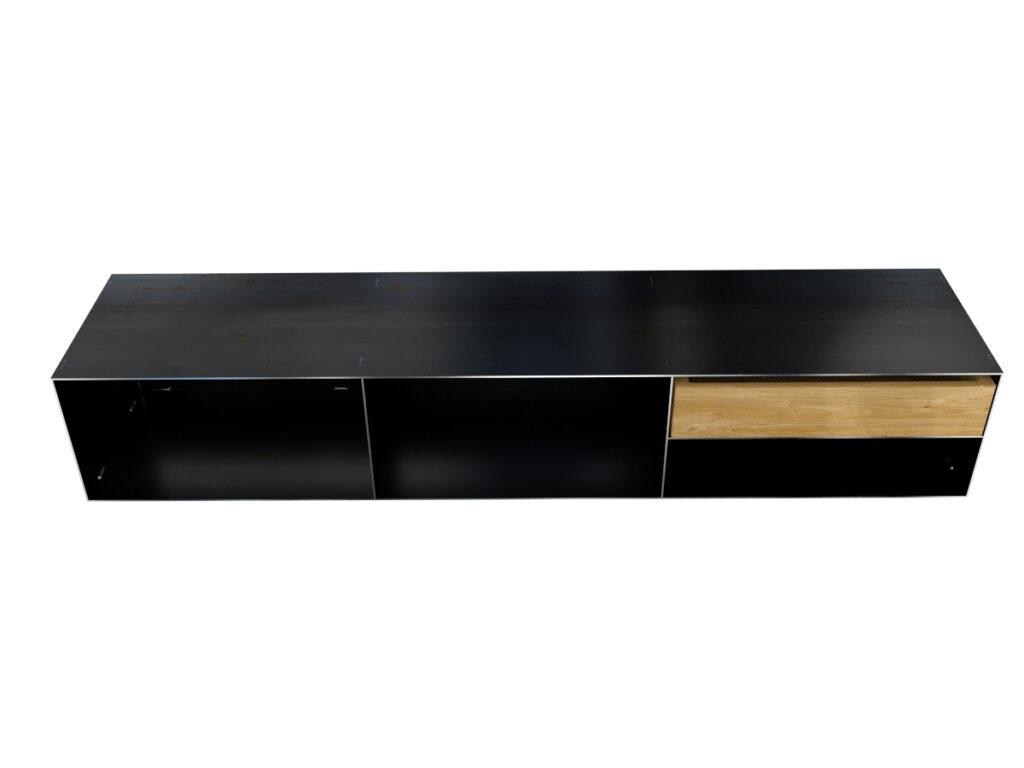 Sideboard Metall modern und minimalistisch in Rohstahloptik und Massivholz