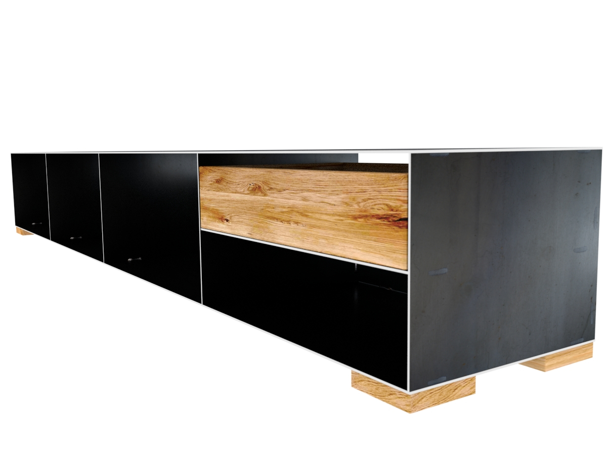 metallsideboard rohstahl mit holz design metallsideboard. Black Bedroom Furniture Sets. Home Design Ideas