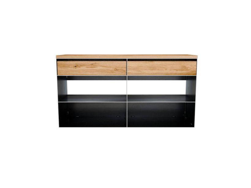 Metall Sideboard Rohstahl