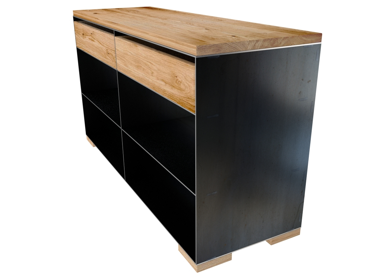 design metallm bel mit holz. Black Bedroom Furniture Sets. Home Design Ideas