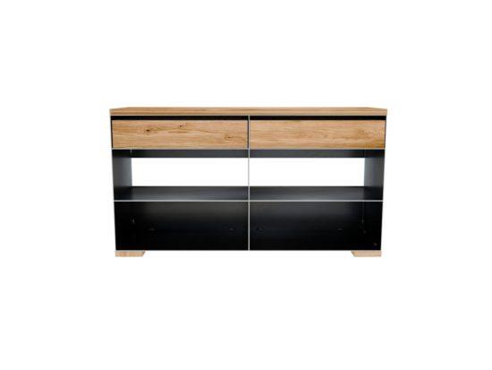 Design Metallmöbel Rohstahl und Massivholz