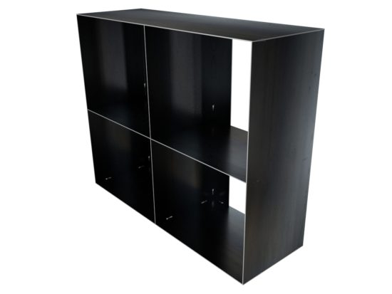 stahlm bel sideboard minimalistisch und modern f r innen als lowboard. Black Bedroom Furniture Sets. Home Design Ideas