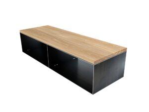 lowboard metall mit holz. Black Bedroom Furniture Sets. Home Design Ideas