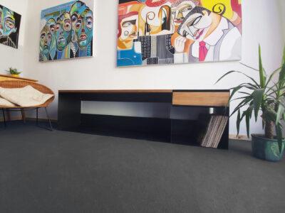 Design Lowboard schwarz minimalistisch und filligran