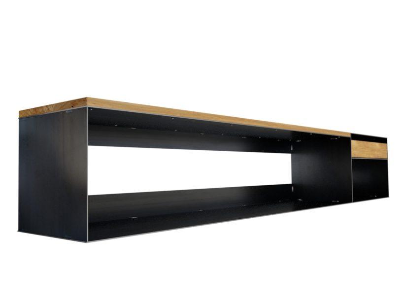 Design Sideboard Modern Mit Holz Metall Lowboard Minimalistisch