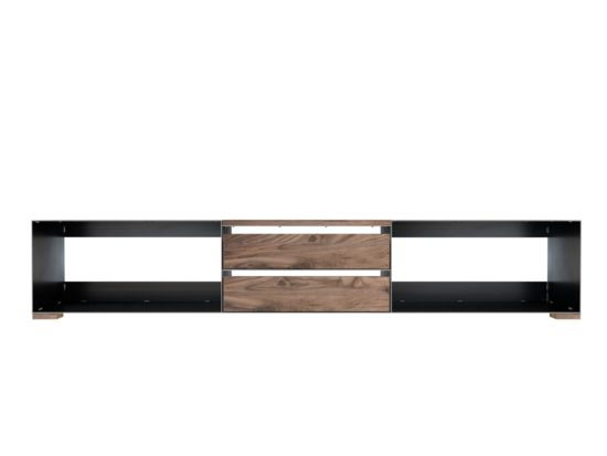 minimalistisches Eisensideboard mit Nussbaum