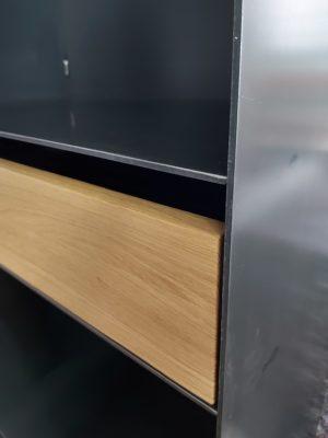 Detaildarstellung Schubfach Möbel Metall